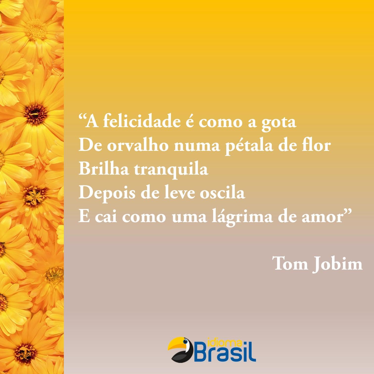 Extremamente Um pouco de poesia – Tom Jobim – Idioma Brasil – Português para  OO83