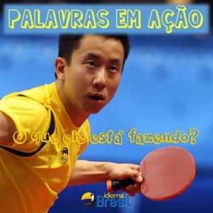 Palavras em ação ping-pong
