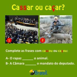 Cassar ou caçar